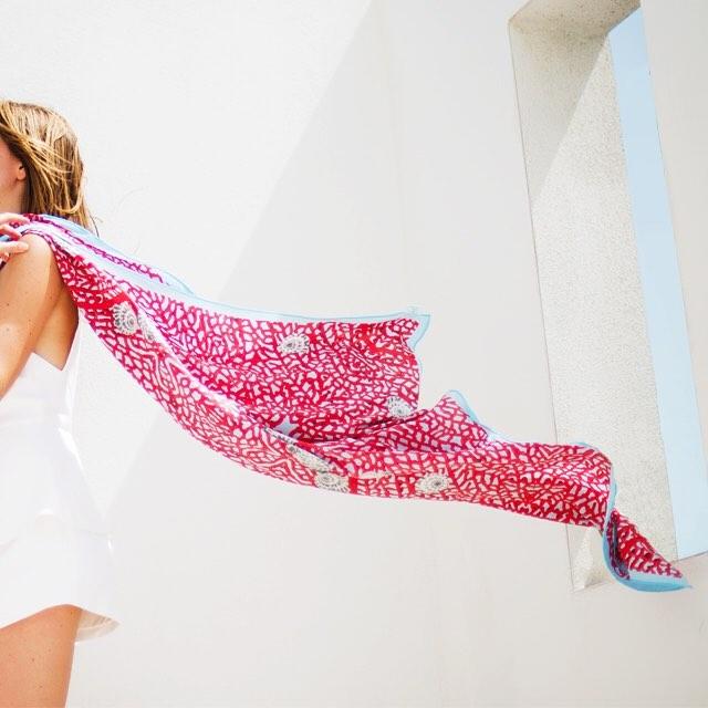 • channel the tropics - the sea fan scarf •