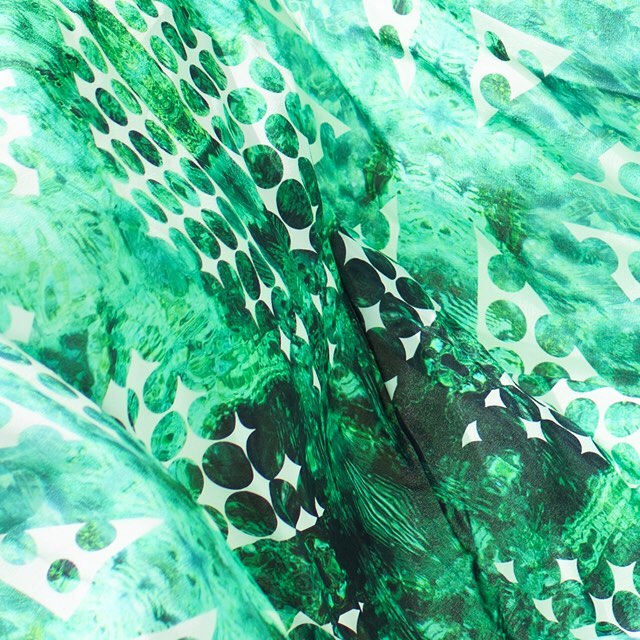 • inspired by the green hues of west caicos - the emerald scarf •