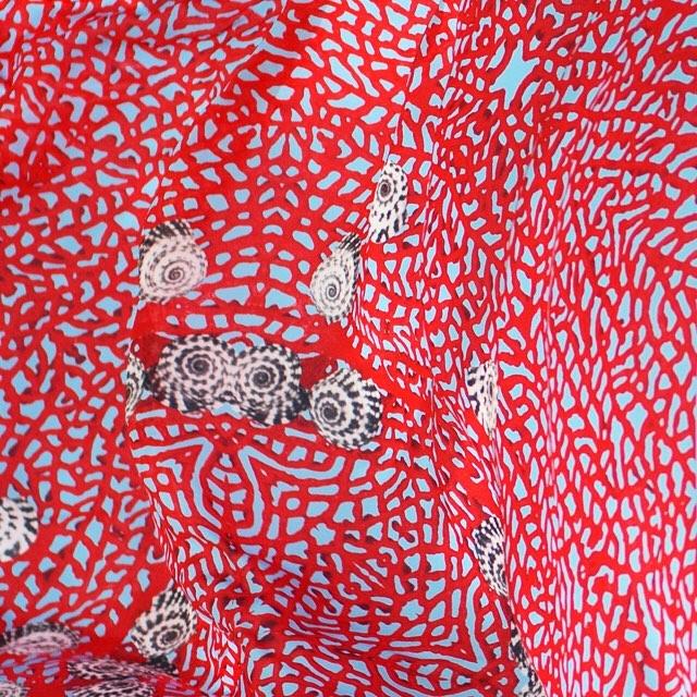 • channel the tropics - sea fan scarf •
