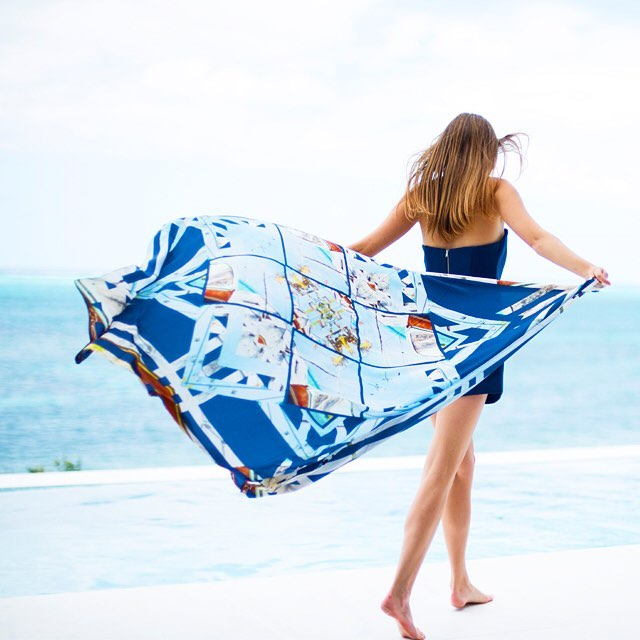 • channel the tropics - the ships scarf •