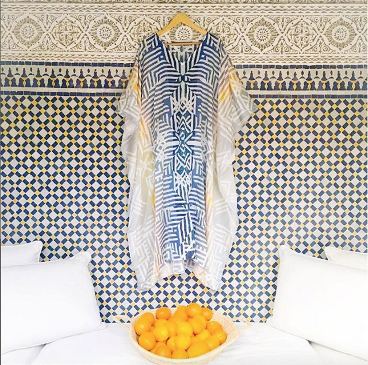 • #seasagespotted - the dusk kaftan - sneak peek of what was in @majesticdisorder suitcase during their most recent trip to morocco •