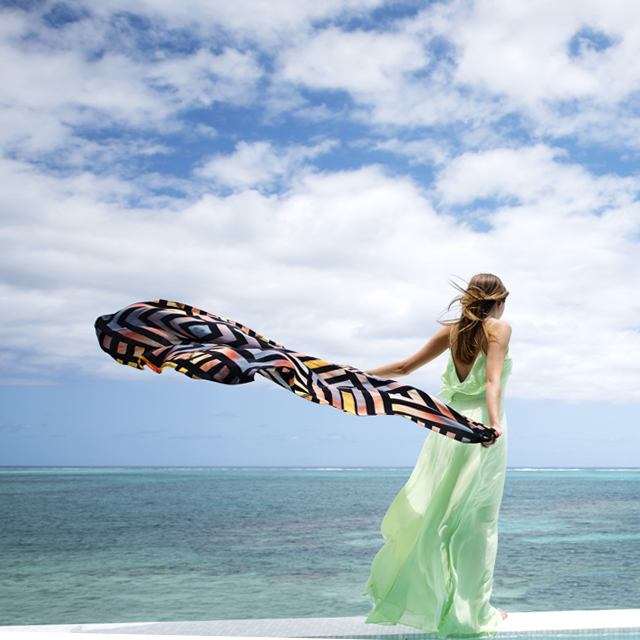 • views of paradise - the sundown scarf •
