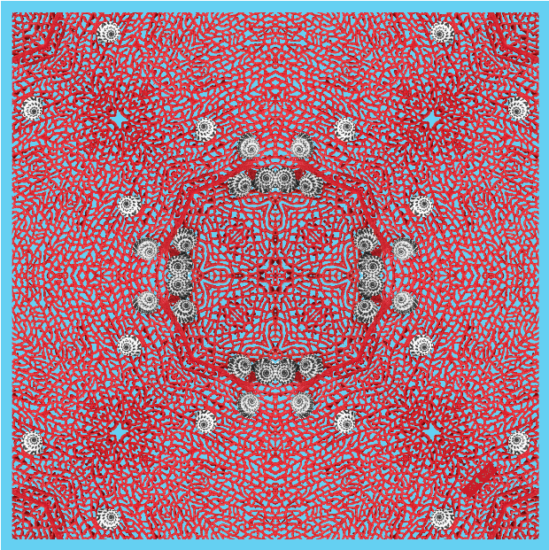 • tropical texture - sea fan scarf •