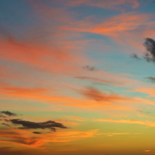 • watercolour skies that inspired the sundown print •