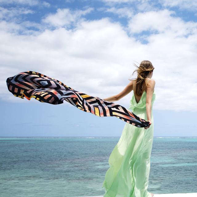 • channel the tropics - the sundown scarf •