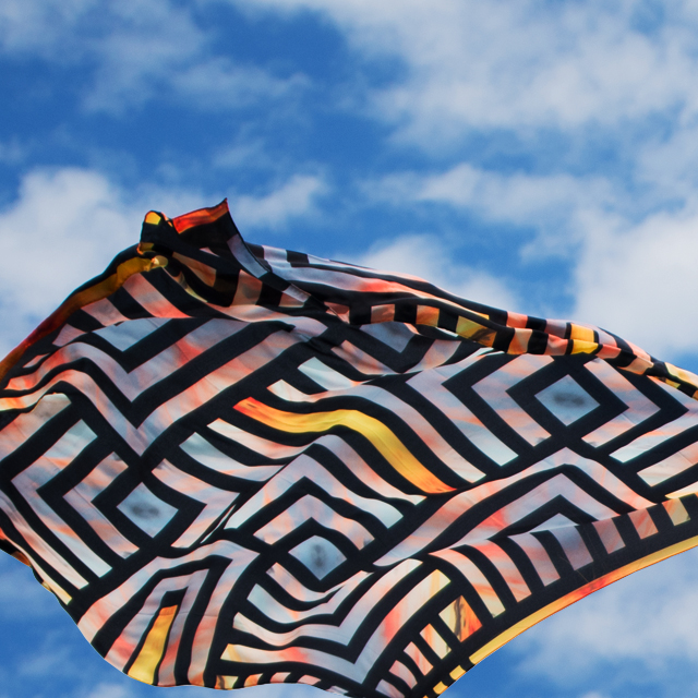 • just like stained glass - the sundown scarf •