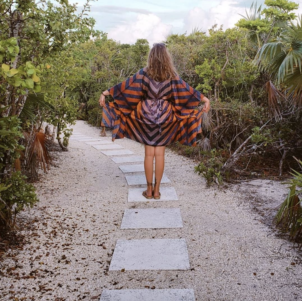 • #seasagespotted - the sunset kaftan- providenciales, turks & caicos - @corgisandlattes •