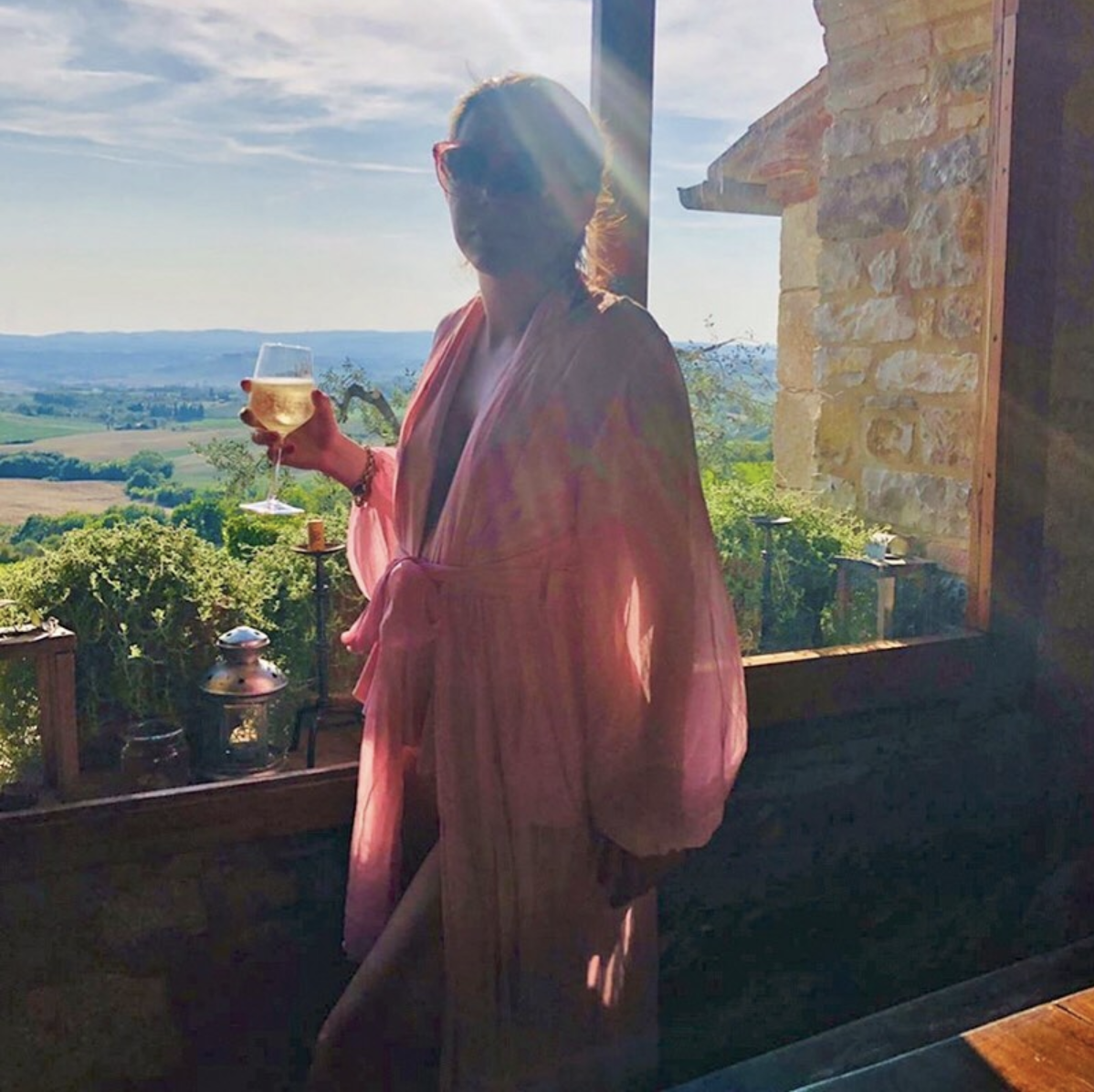• #seasagespotted - the caribe robe & cascade one piece- castellina in chianti - italy - @diedandgonetochic •