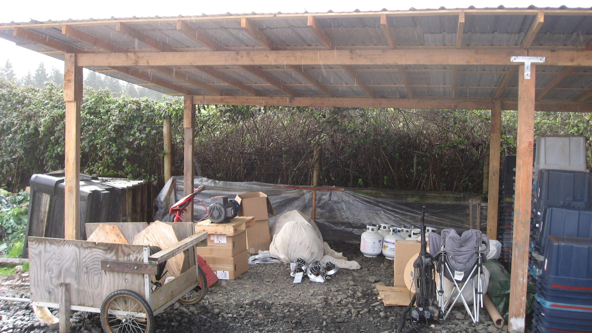 Wash-shed extra storage