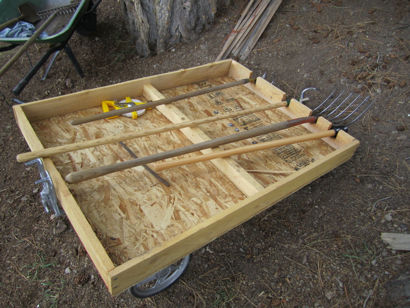 cart with tools