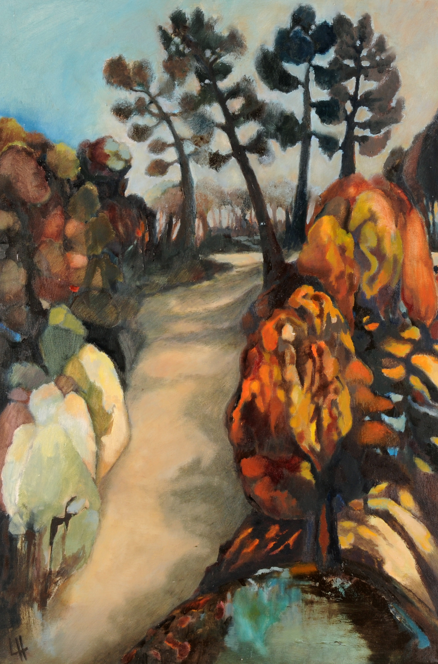 Sundown Chemin Crespinou, [40x60cm] oil on canvas  2012  Laura Hudson.jpg