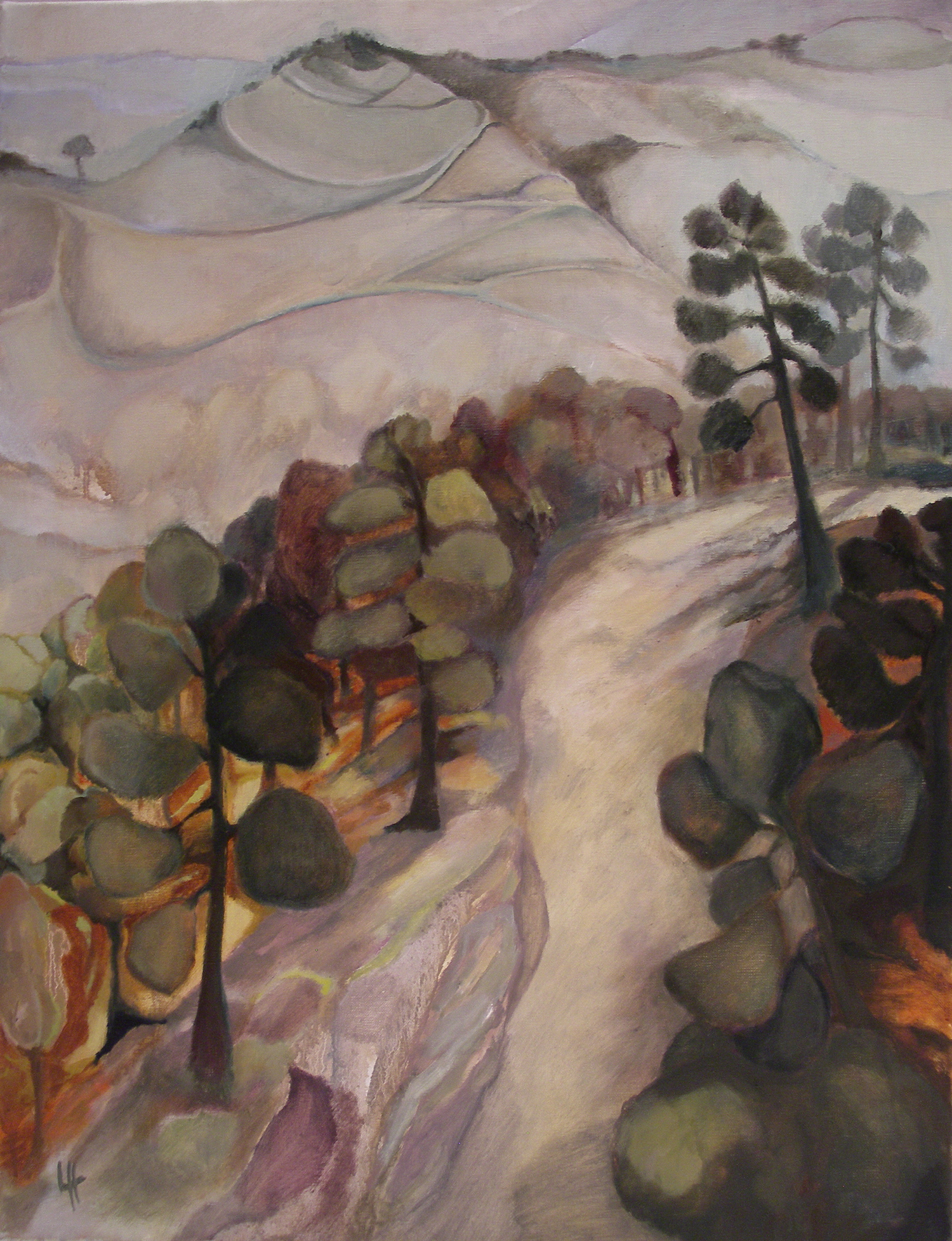 Misty Mountain Track II, oil on canvas [50x65cm] 2012 .jpg