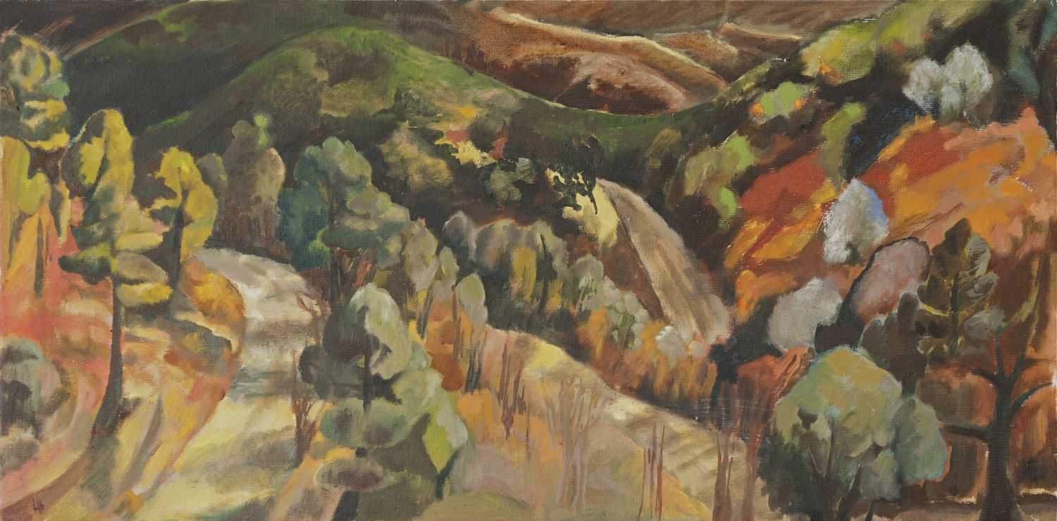 Cévennes Morning March [80x40cm] oil on canvas 2012 Laura Hudson.jpg