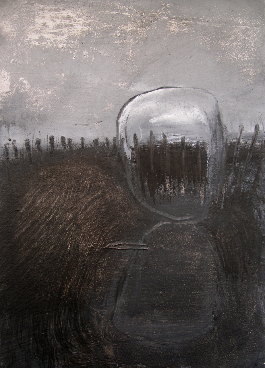 Laura Hudson Standing on a Curve, A5.2, pigments on paper, 2014