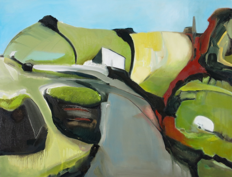 Edgelands St. Just  [65cmx50cm] oil on canvas, Laura Hudson 2014
