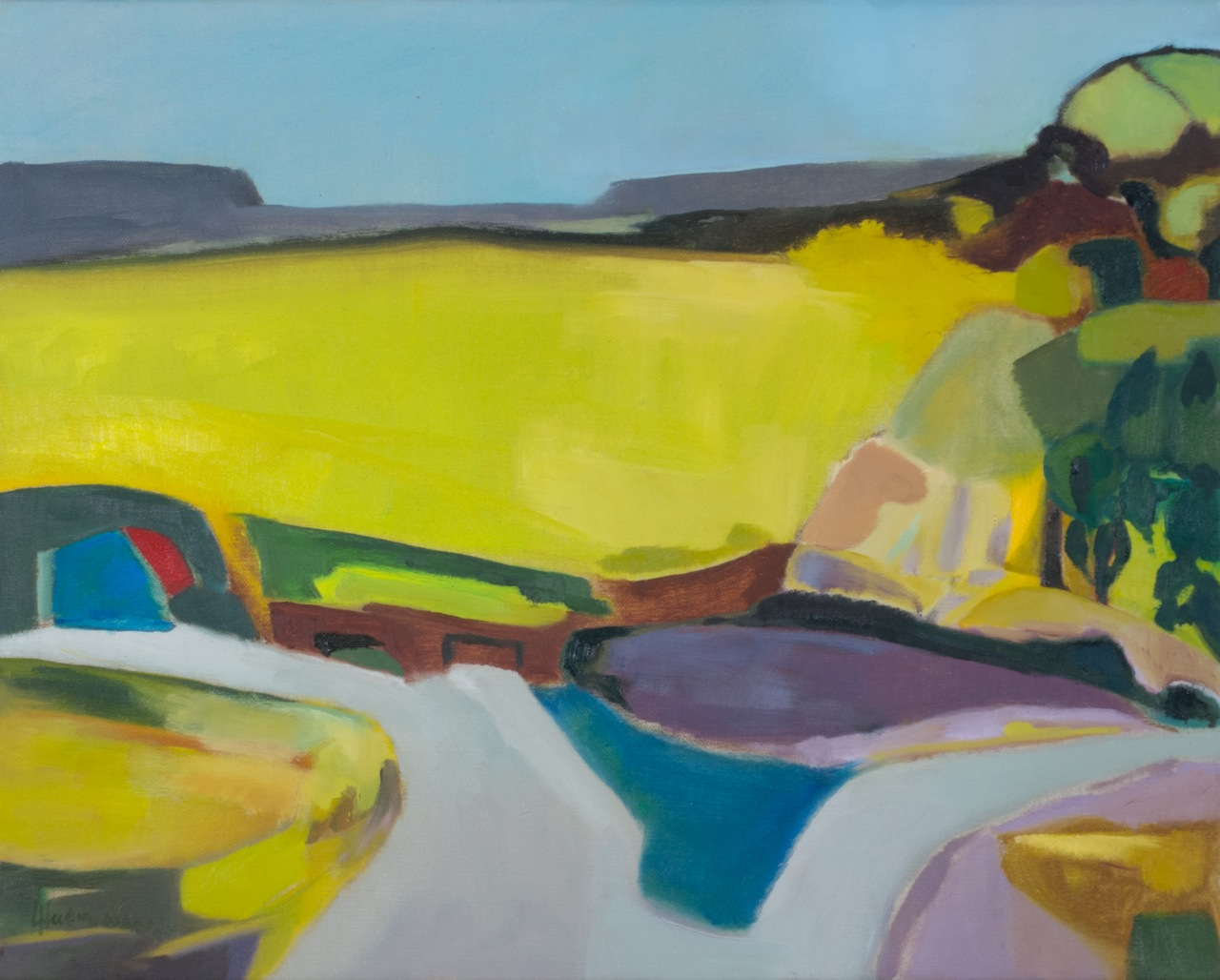 Headland Hartland, Loosestrife  [50x40cm] oil on linen, Laura Hudson 2013