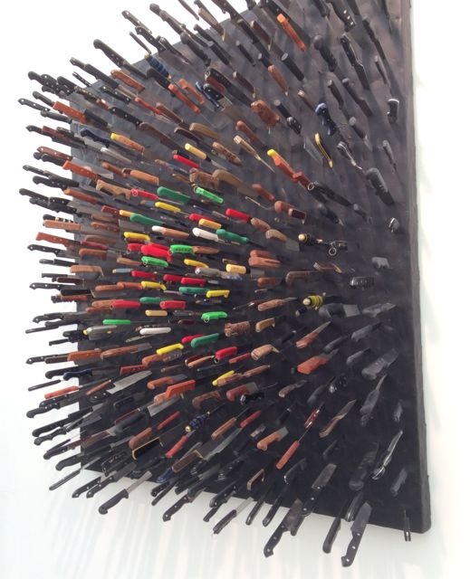 Farhad Moshiri Coloured Knives on Black 2013