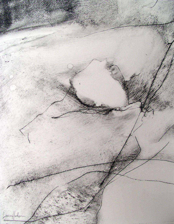 Dartmoor III [29x23cm] dry point + carbon, 2013