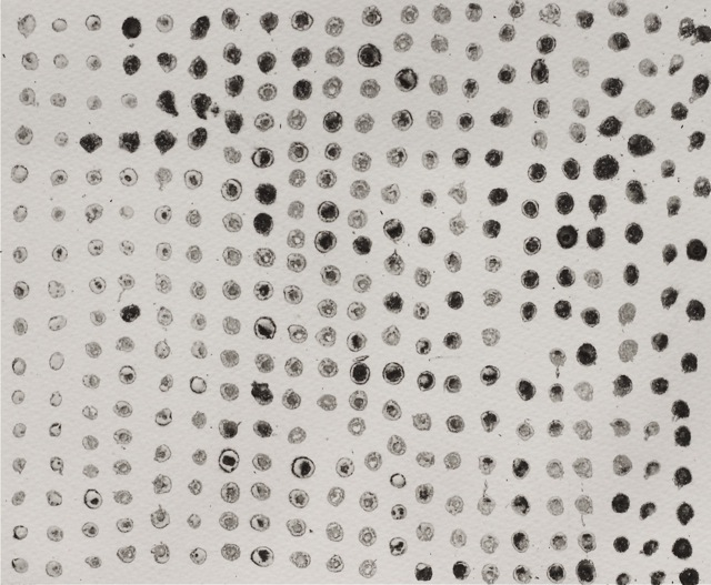 Dot Connections A4 Intaglio unique print 2015