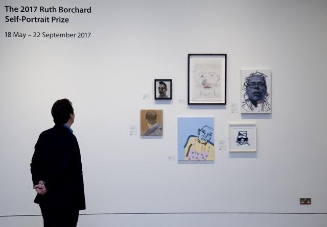 Exhibition Installation Shot Ruth Borchard Self-Portrait Prize 2017