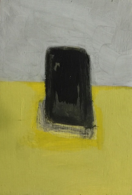 Nail House Monolith [10x15cm] oil on wood, 2018