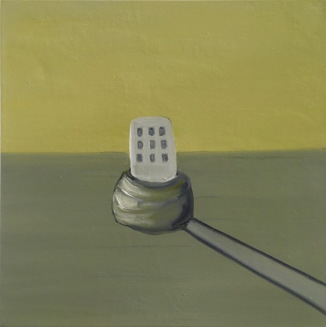 Nail House : Ladder [50x50cm] oil on canvas, 2018