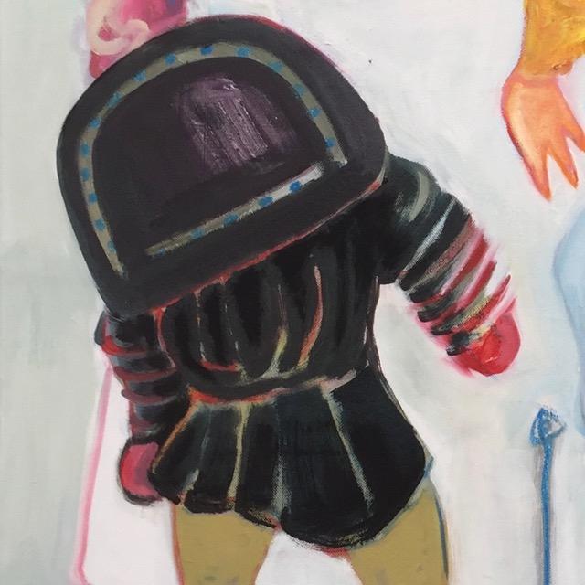 Detail Baby Jesus in a Hazmat Suit