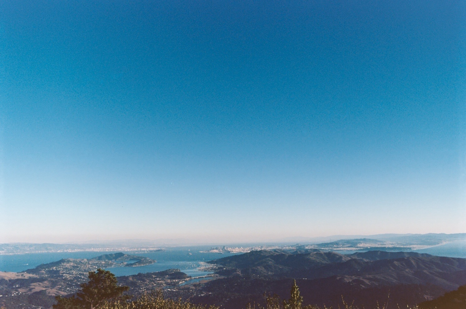 San Francisco/Oakland from the top of Mt. Tam