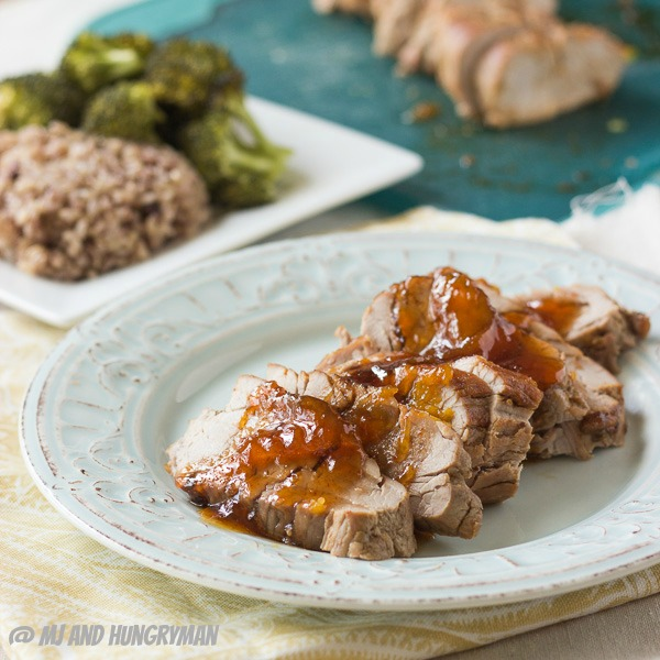 Try this low sodium  Pork Tenderloin with Spicy Peach Sauce  recipe.  Image reprinted with permission from www.mjandhungryman.com & www.healthyaperture.com