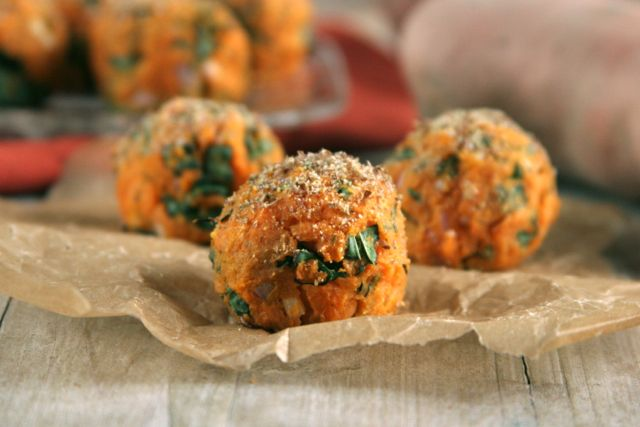 Looking for a meatless dish? Try these  Sweet Potato & Kale Balls .  Image reprinted with permission fromwww.rickiheller.com and www.healthyaperture.com