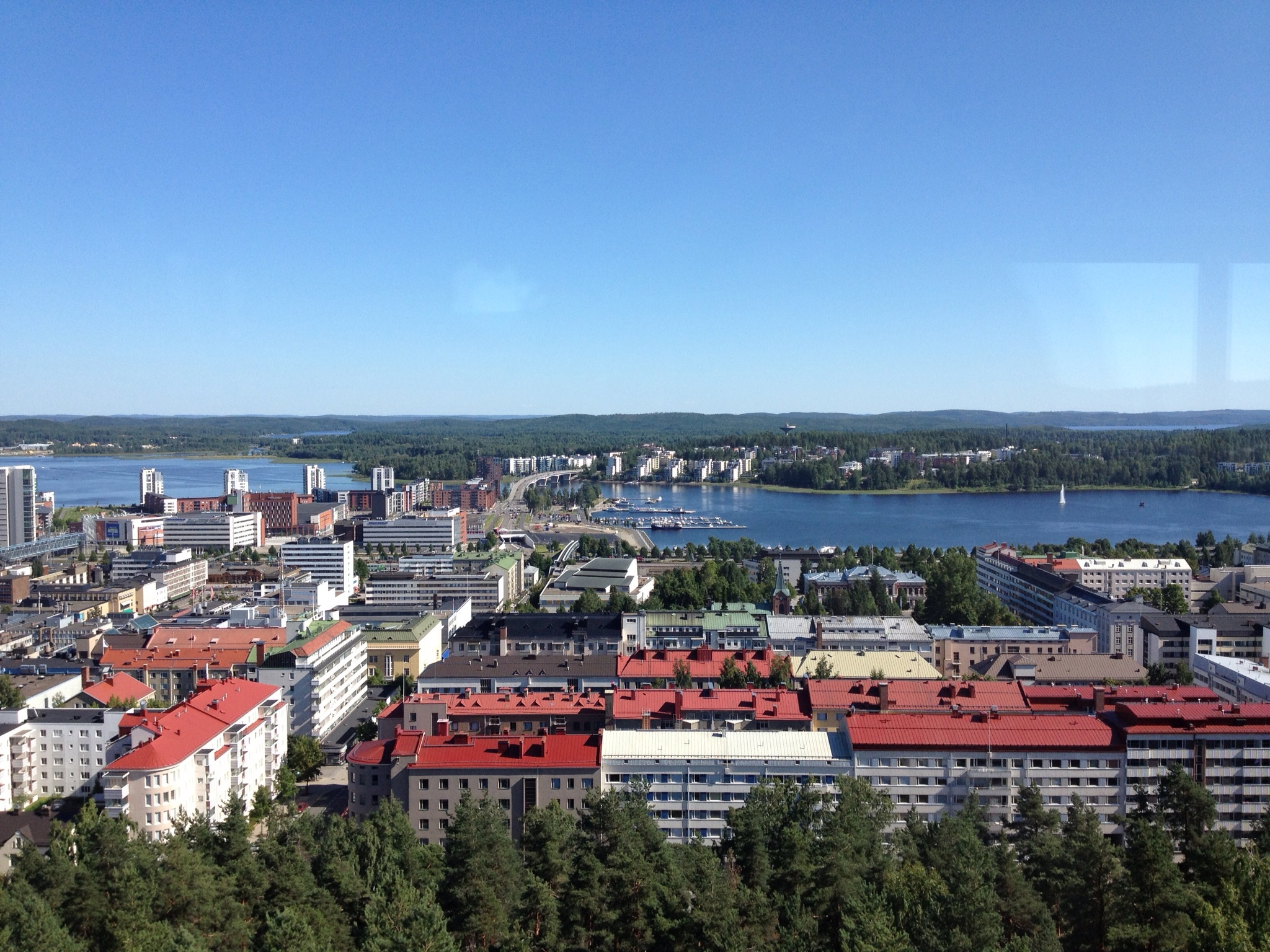 Jyväskylä in the summer - contrast with the same shot above
