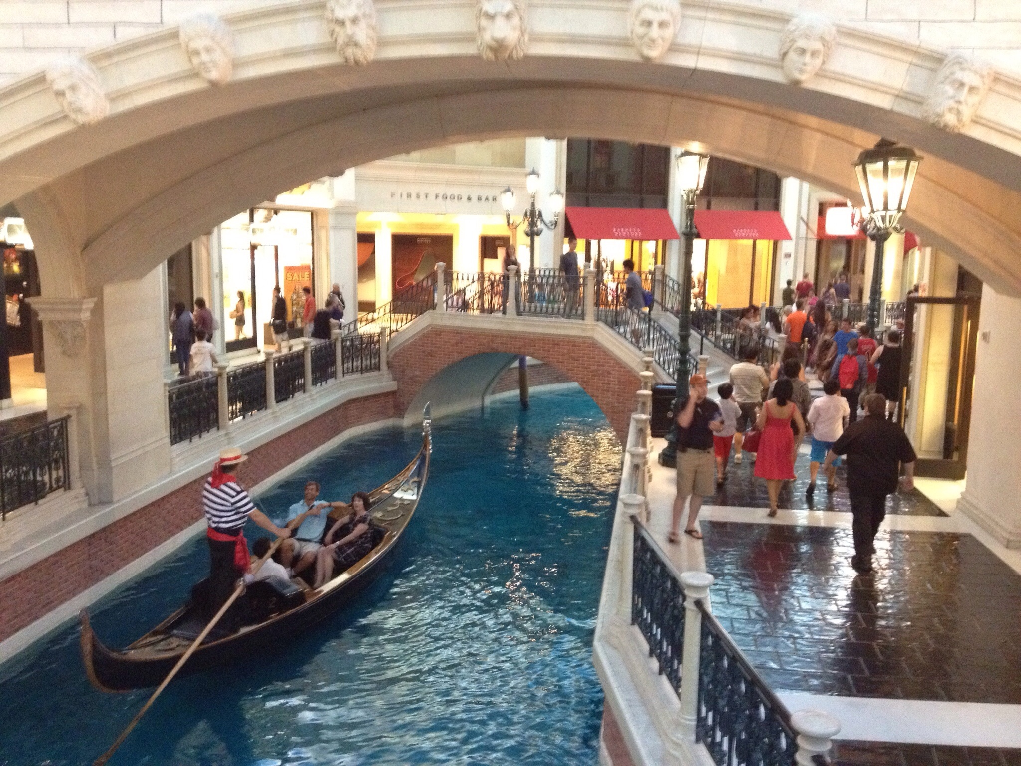 Venice? No the Venetian Casino, because whyever  wouldn't you build an artificial canal in the middle of a desert?
