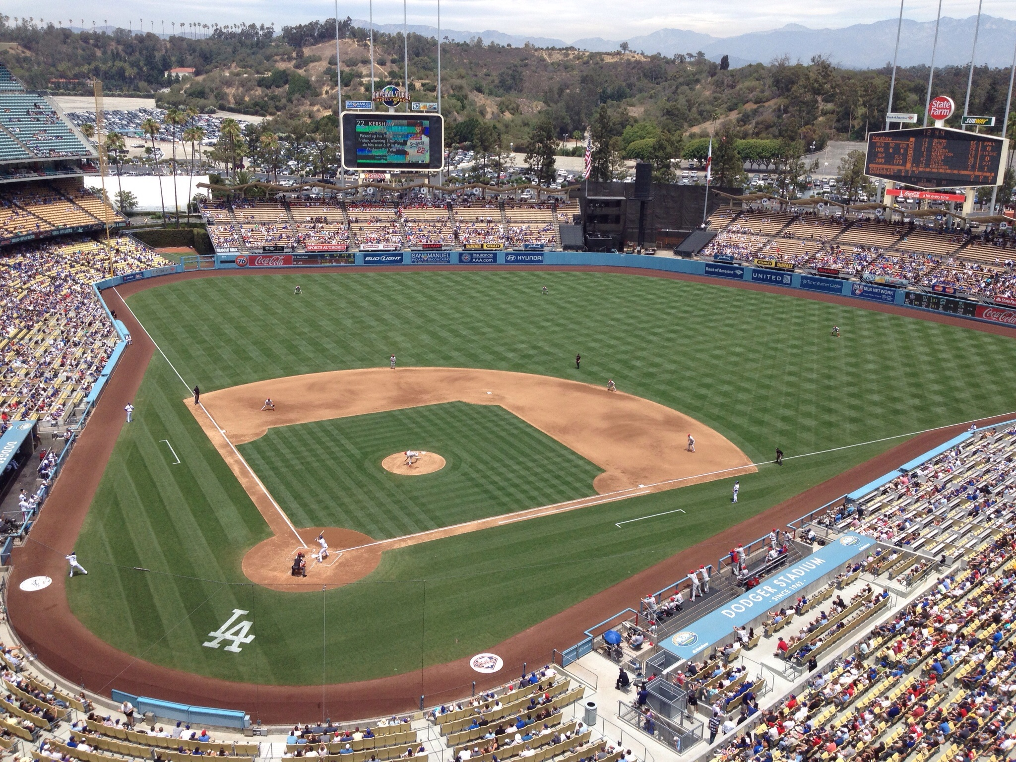 Home of the Dodgers. A little bigger than the Lancaster JetHawks' stadium, but the atmosphere is the same