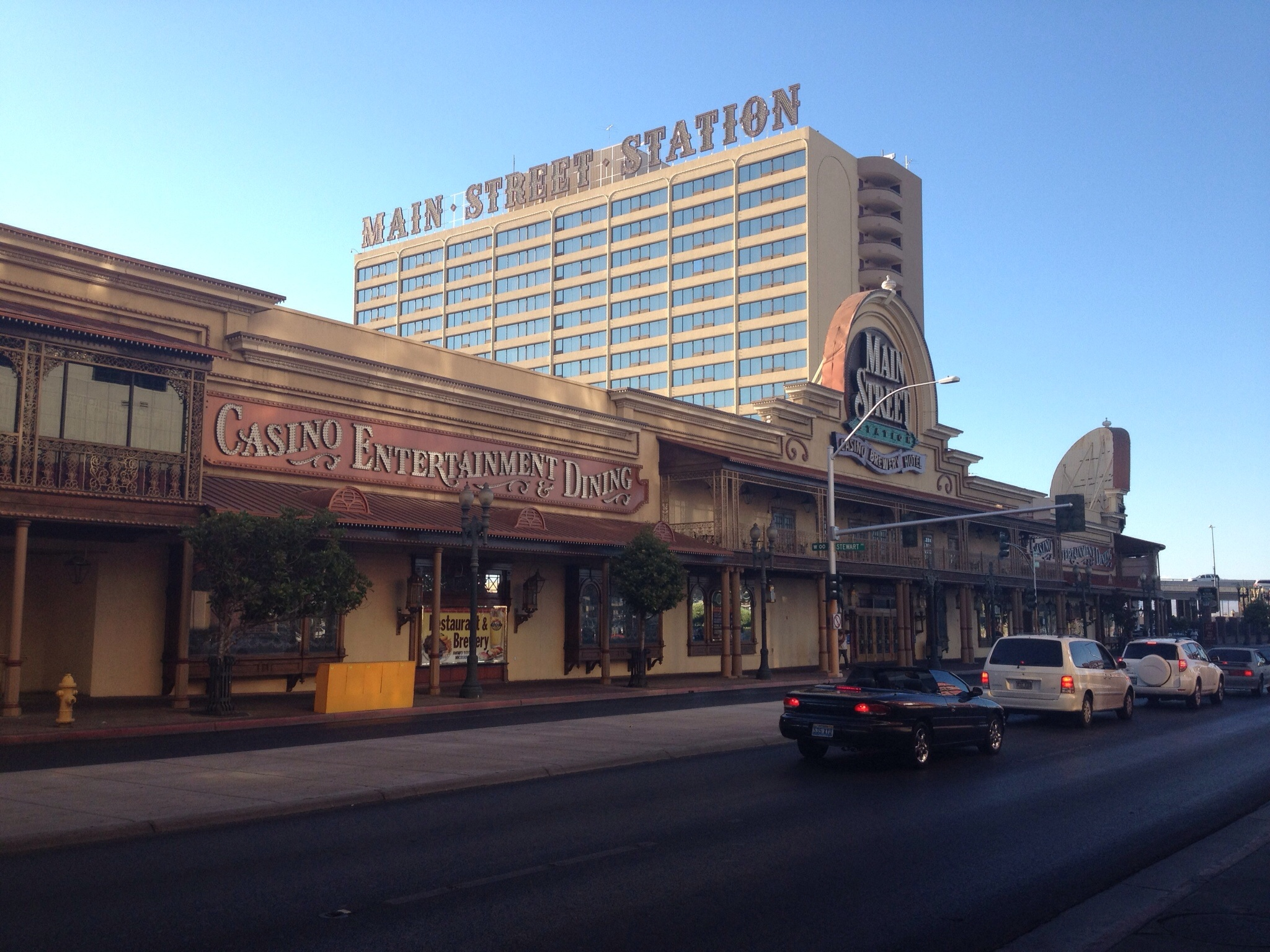 This is the old side of Vegas, at the north end of the Strip