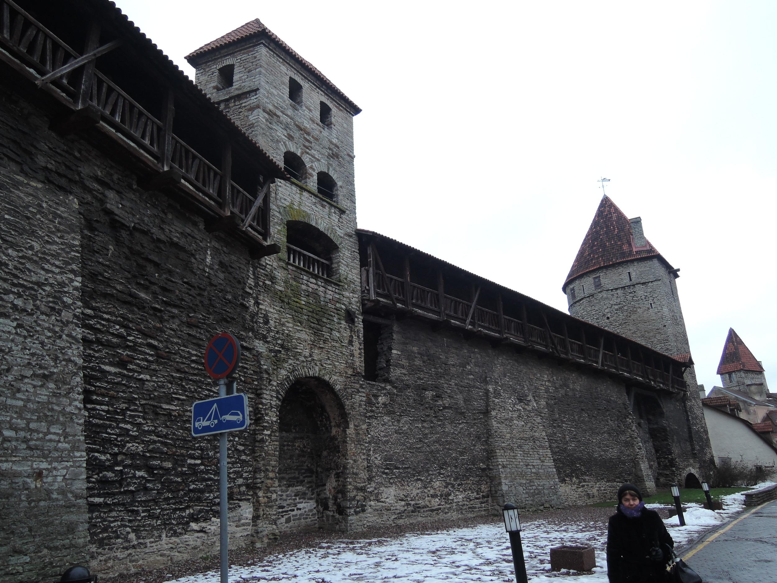 The wall of old Tallinn