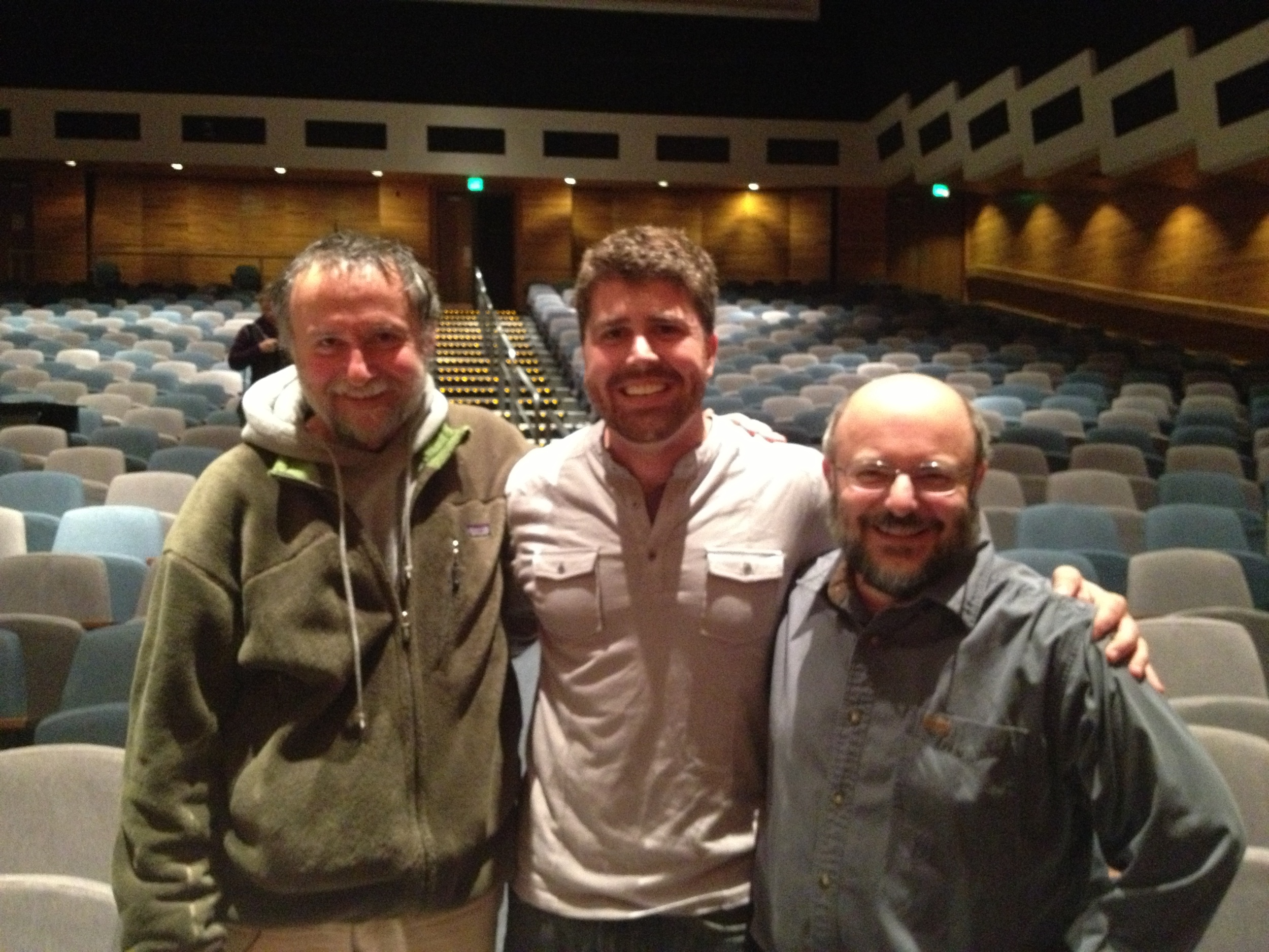 Rolf Gradinger & Mike Castellini with the composer