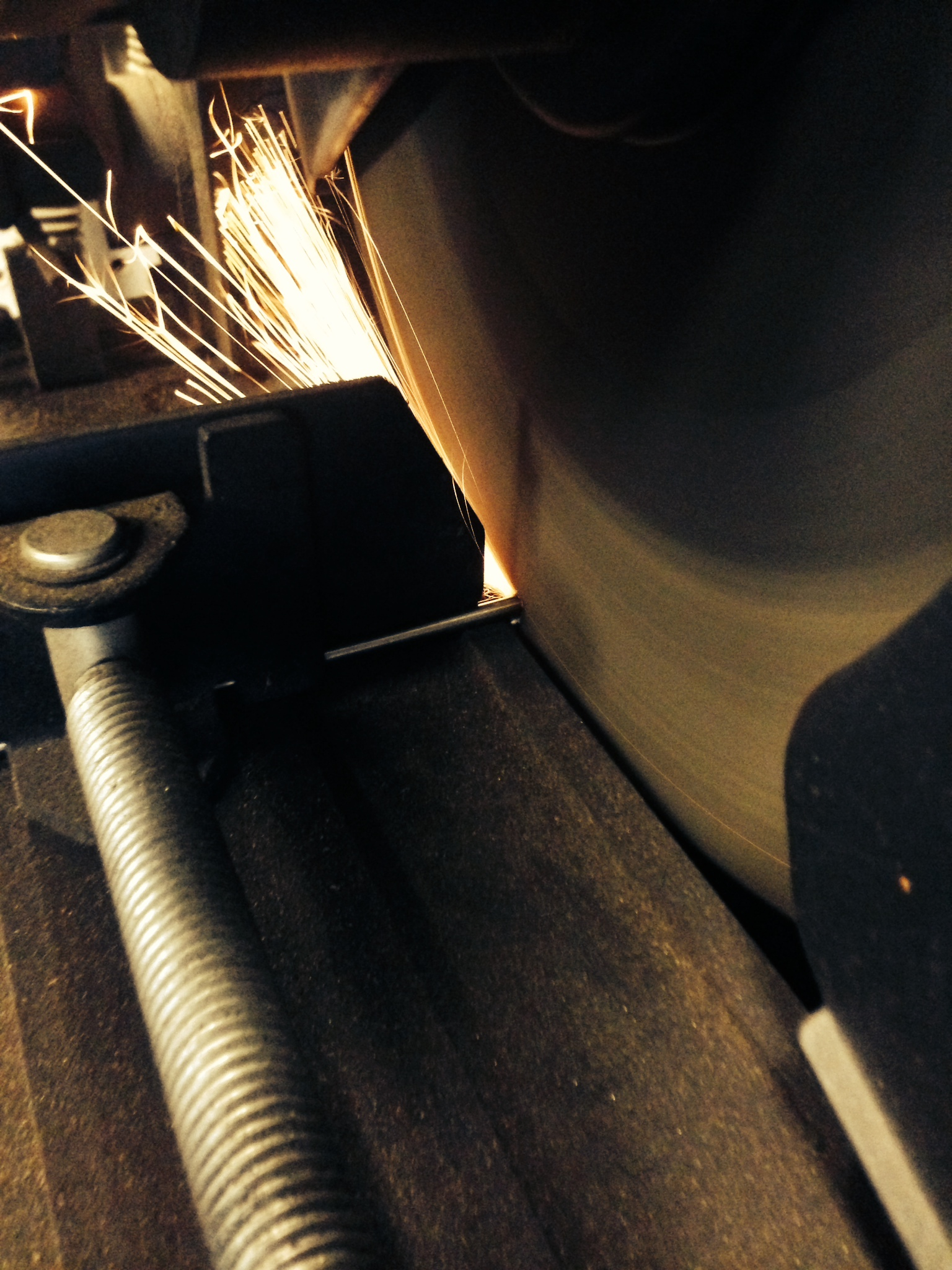 standard spoon prototype cutting sparks