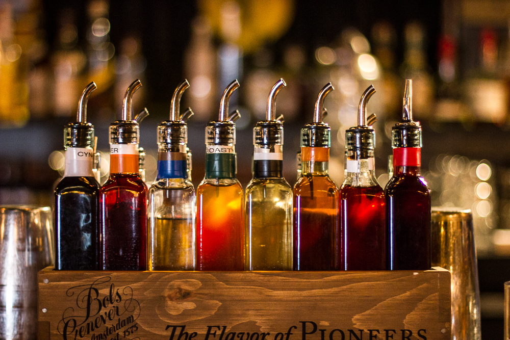 Syrups at The Lions Share Bar and Restaurant in San Diego. Photo by Shawn Michael of Standard Spoon