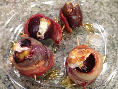 Bacon Wrapped Stuffed Figs
