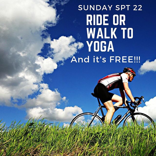 Walk bike or run to yoga next Sunday 9/22 and it's FREE as part of the Global Climate Strike week. All next week (September 20-27) any class you go to at Craftsbury Outdoor Center is FREE of you get there without the use of fossil fuels. ❤️👍🏼