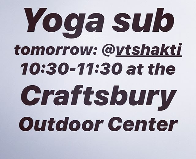 Tina Ghantous @vtshakti will be subbing for me tomorrow, see you all next week!