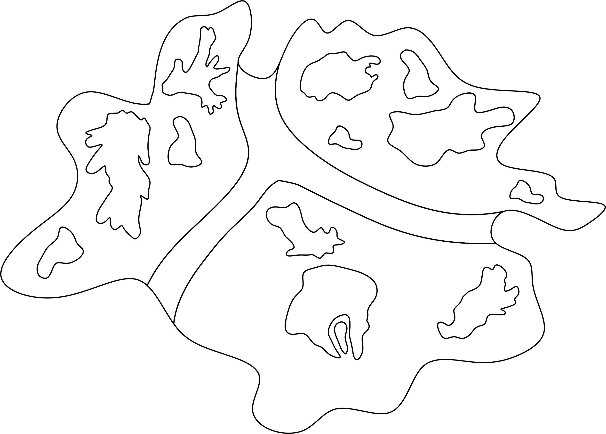 This map was built using 8 amoeba tracings, including the boundary. Some are repeated more than once.