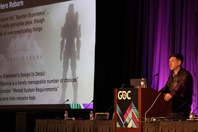 Nervous and tired at the GDC in 2016.