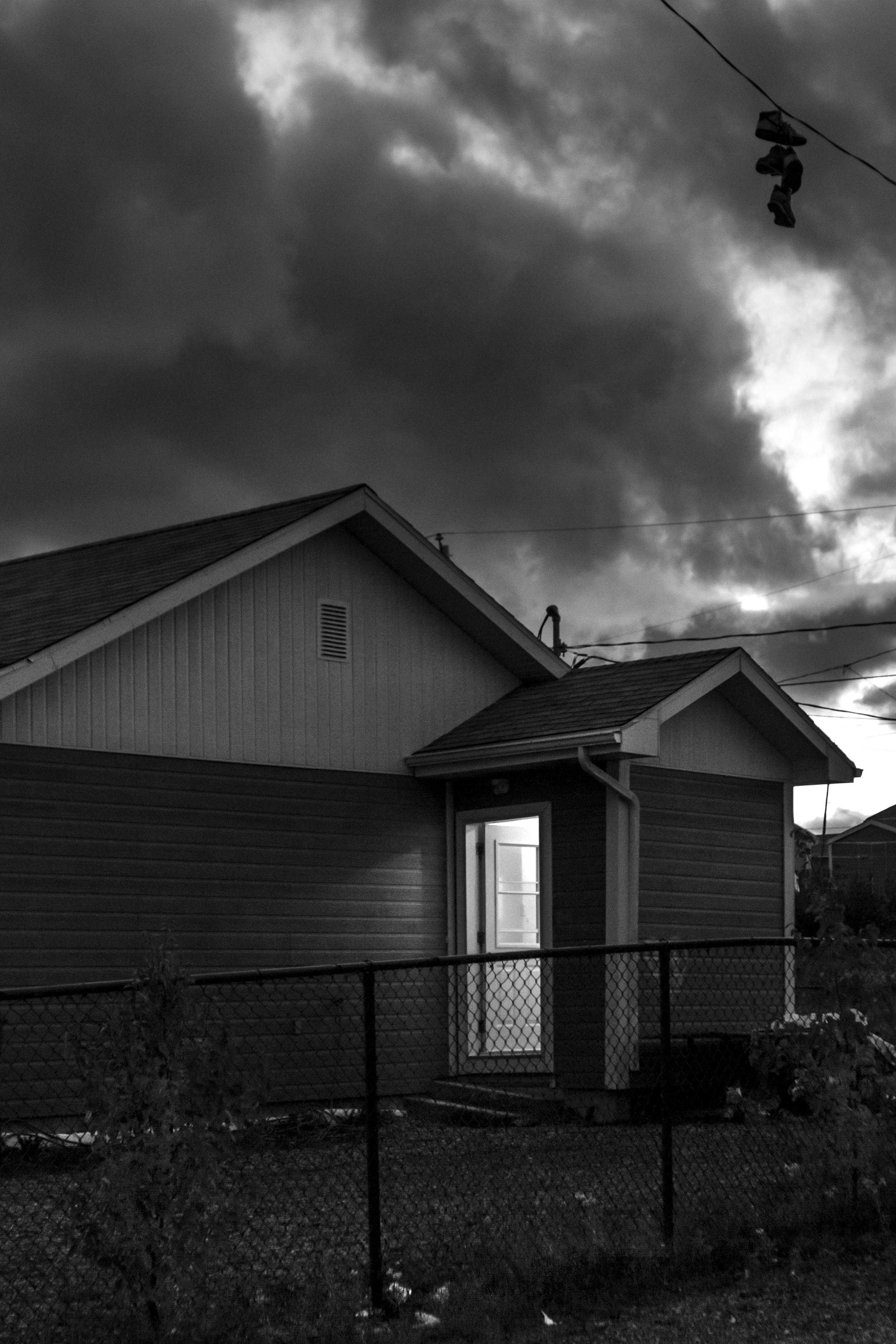 La nuit tombe sur Waswanipi