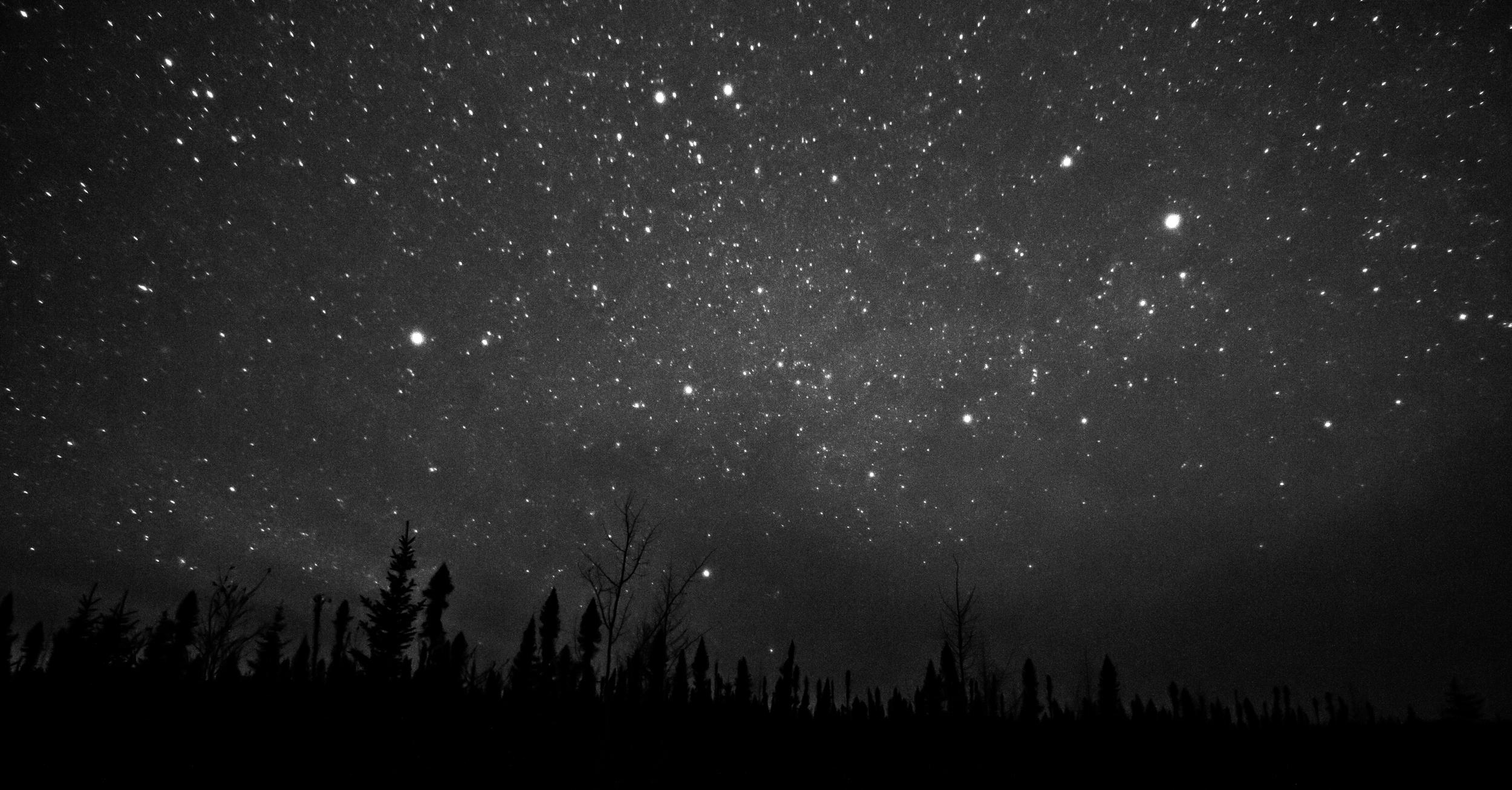 La nuit, le ciel est illuminé comme nul part ailleurs