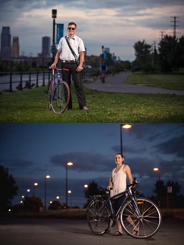 J'ai commencé un projet sur les cyclistes de Montréal.