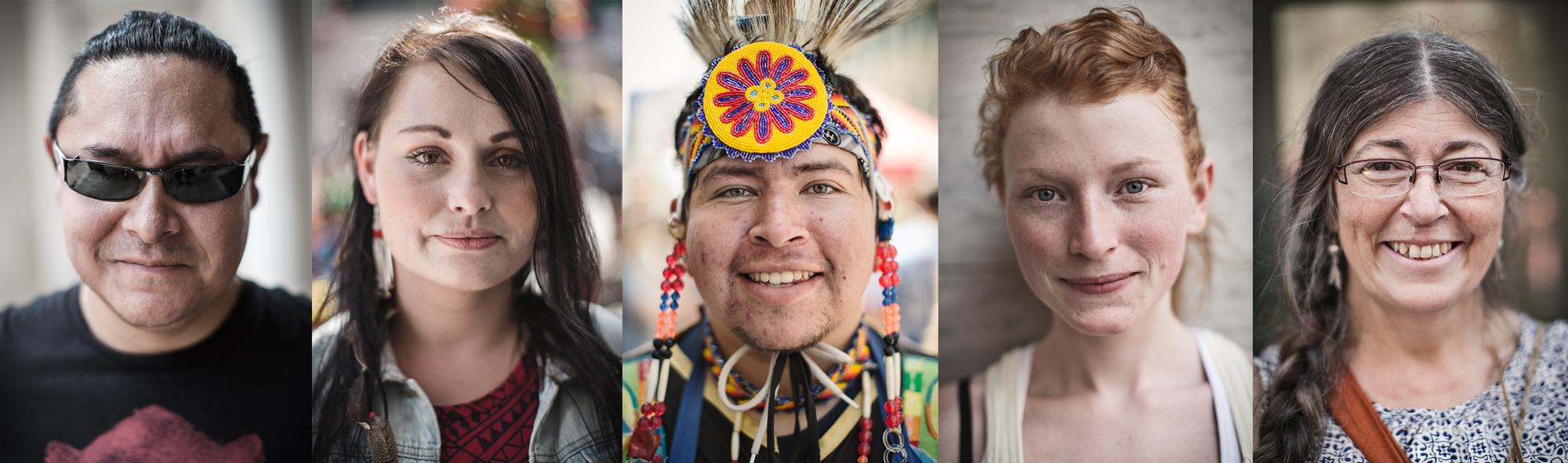 J'ai fait des portraits et entrevues de personnes qui assistaient à un Pow Wow lors du Forum social des Peuples, à Ottawa.