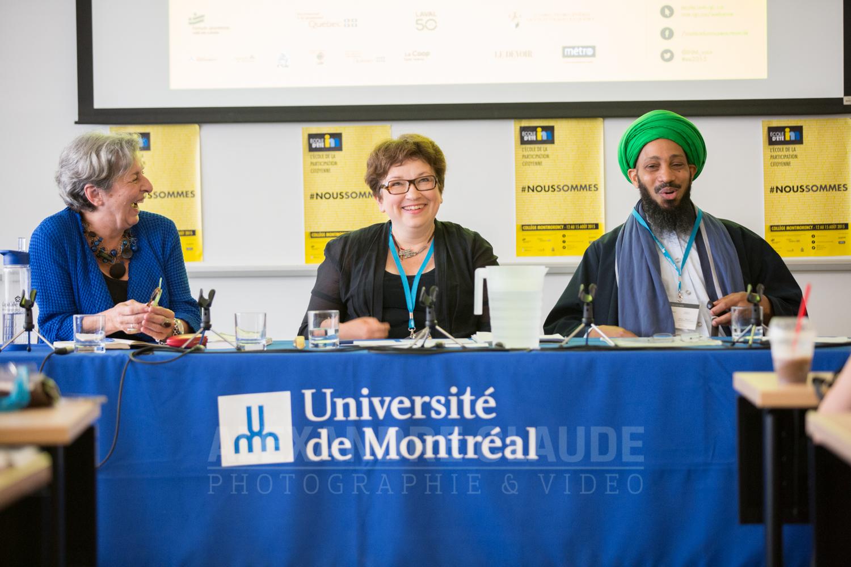 Conférence « Radicalisation: conséquences sur les Canadiens et les Canadiennes», avec Canadiennes Josée Boileau, Janine Krieber et Omar Koné.