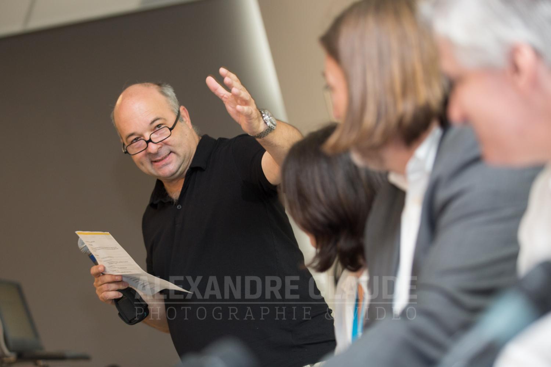 Débats entre 4 candidats au élections fédérales, animé par Michel C. Auger.
