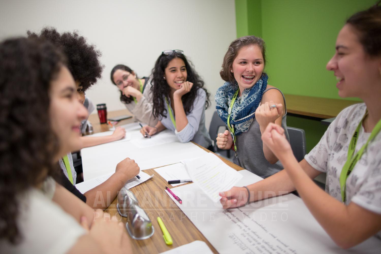 Des participantes du Profil initiation lors d'une activité organisée par  Noémie Brière-Marquez et Éricka Alnéus.